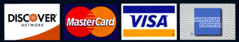 We Accept: Visa & Mastercard